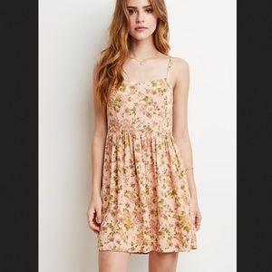 Forever 21 flower sundress pink flower dress